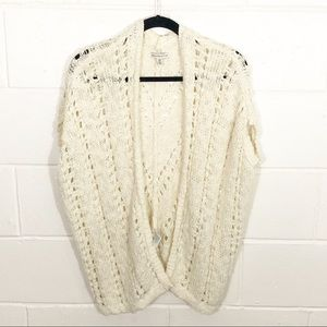 American Eagle Crochet Short Sleeve Cardigan